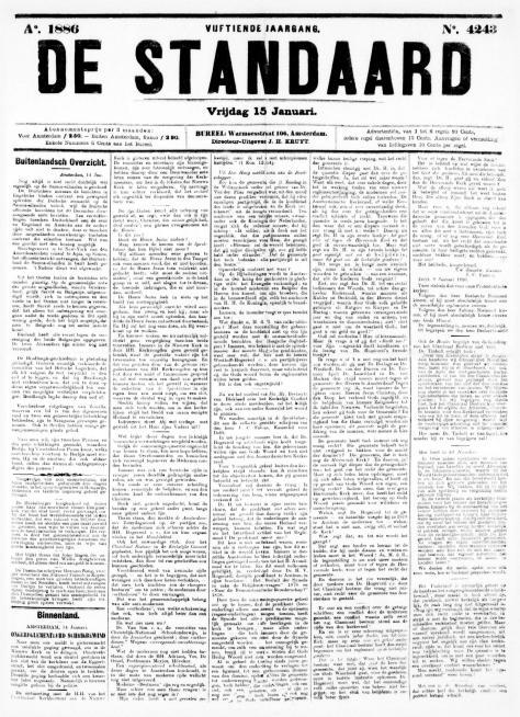 De Standaard 15 januari 1886
